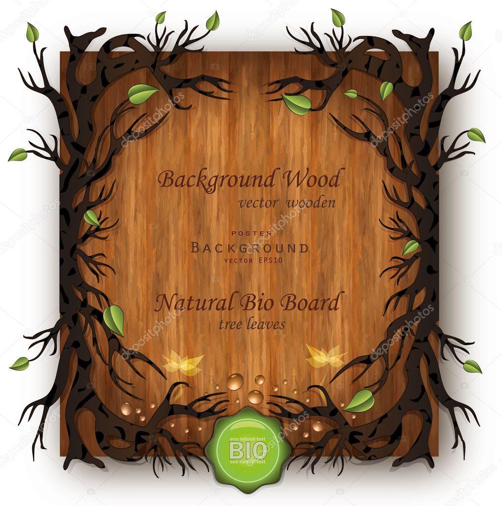 Vector Bio background Wood