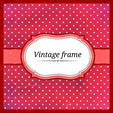 Vintage polka dot frame. Eps10