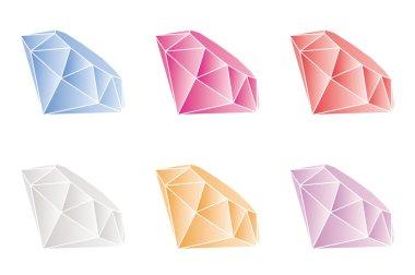 Set of vector gems