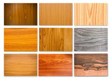 Set of wood texture