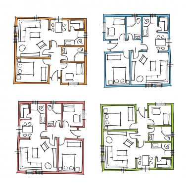 Sketchy set of ground floor blueprints