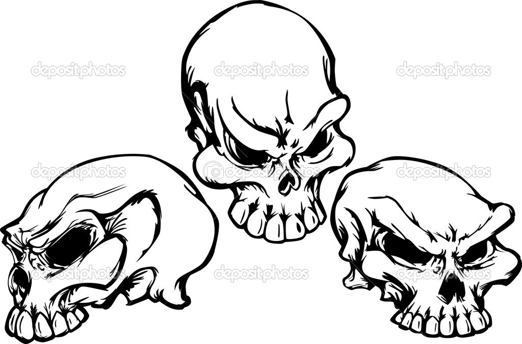 Skulls Group with Graphic Vector Images