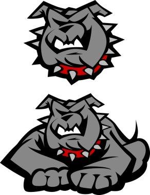 Bulldog Mascot Body Vector Illustration