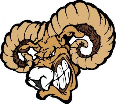 Ram Mascot Cartoon Vector Illustration
