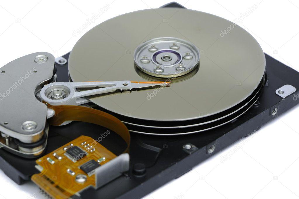vista interior de disco duro foto de stock kwokfai