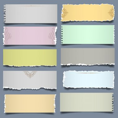 Ten notes paper in pastel colors