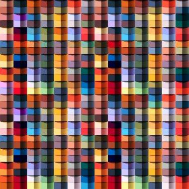 Multicolored geometric structure