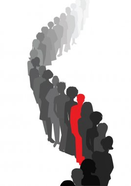 Stand out in a queue