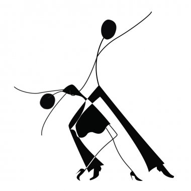 Dancing man and woman