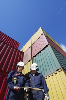 Container port and workers