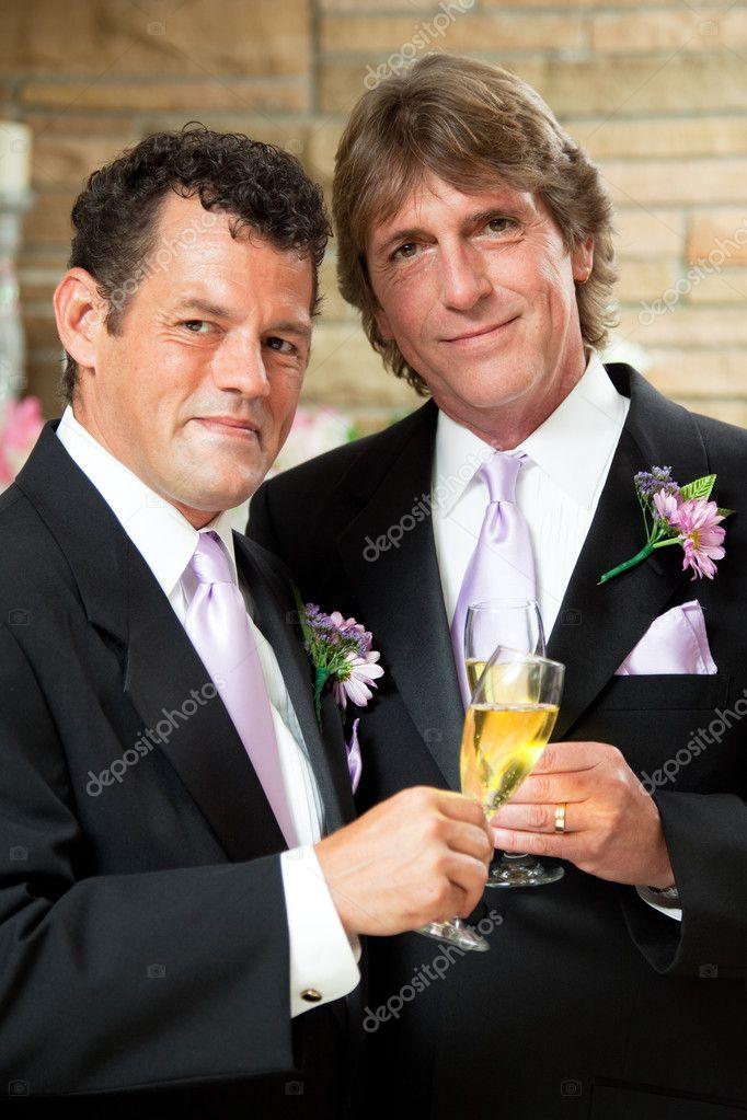 Gay Couple At Wedding Reception Stock Photo Lisafx 10545730