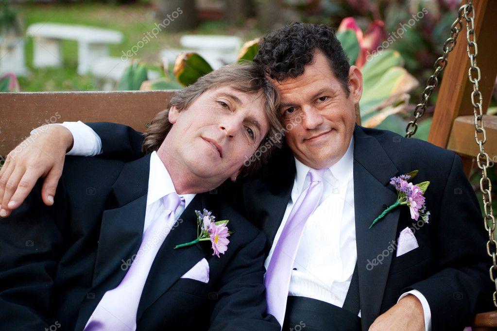 Para Piękny ślub Gejów Zdjęcie Stockowe Lisafx 10545746