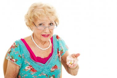 Senior Woman Hates Taking Pills
