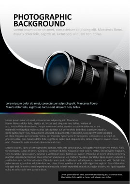 Vector background with DSLR camera