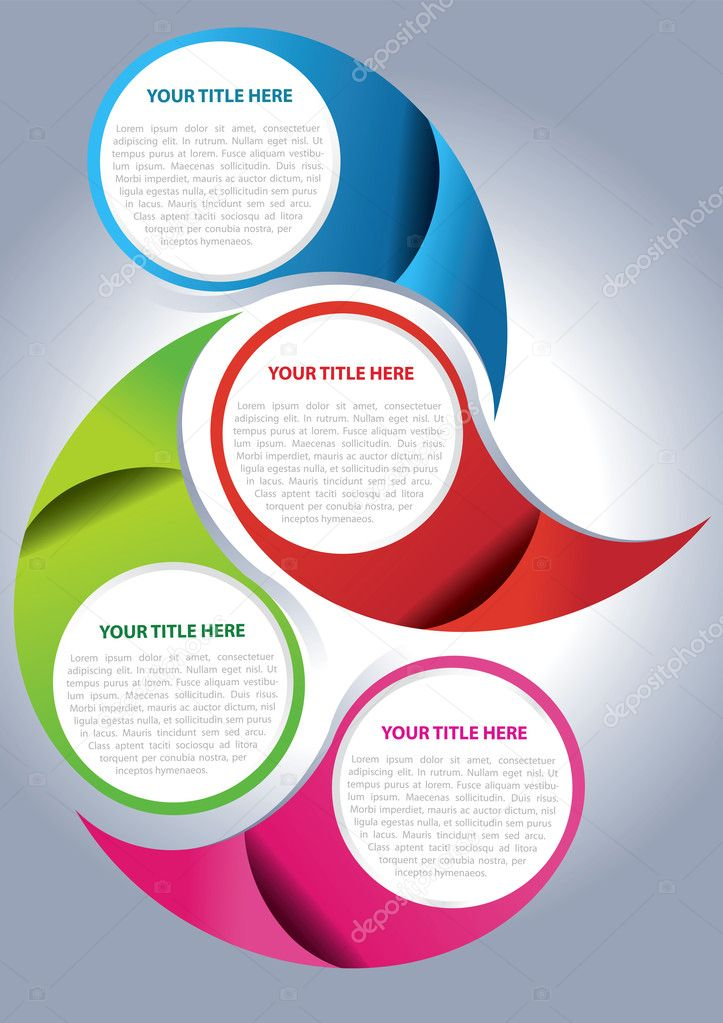 Vector brochure page design concept