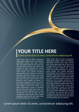 Dark Vector Brochure and Poster Background