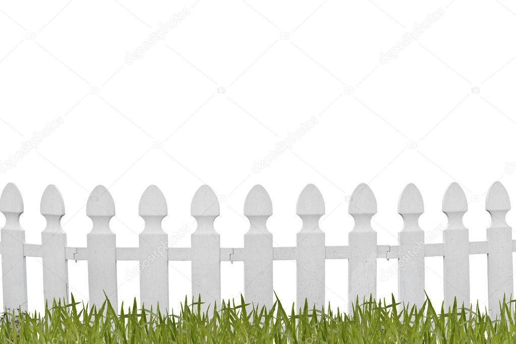 картинка белый забор белый фон оказавшийся грани