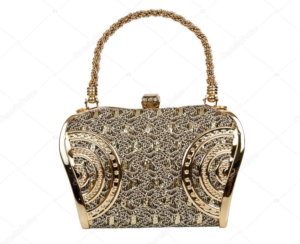 9095337c6a82d Altın clutch çanta — Stok Foto © FrameAngel #9440661