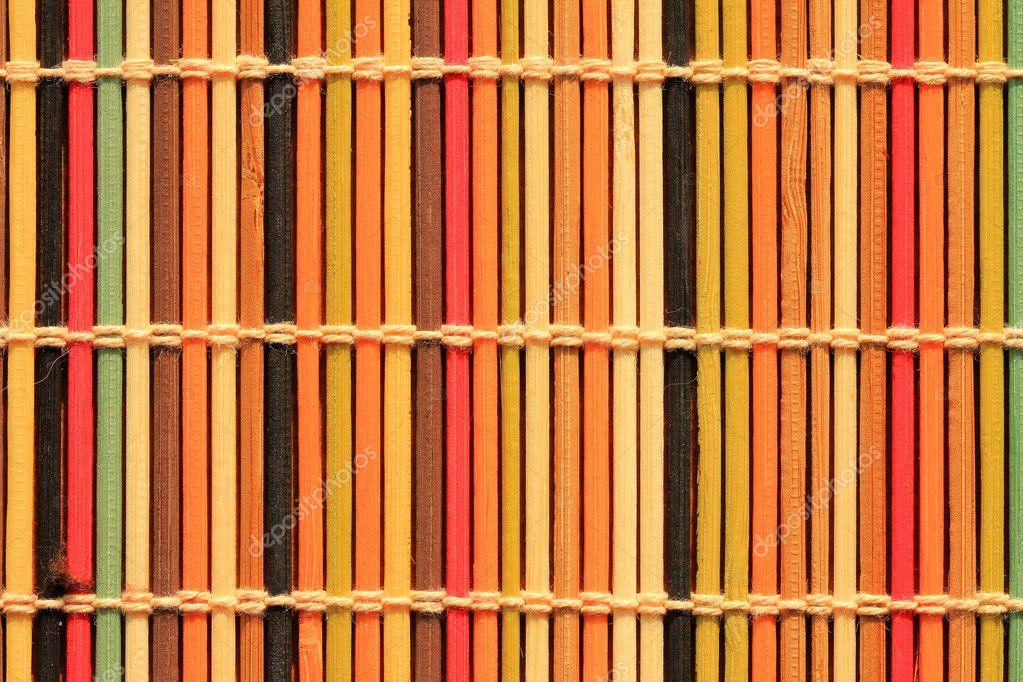 Close up of colorful mat napkin