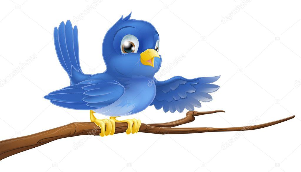 Днем, картинки для детей птичка сидит на ветке