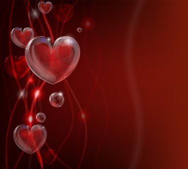 An abstract valentines day heart background illustration. clip art vector