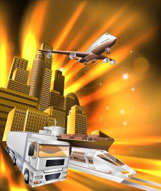 City Logistics Delivery Graphic