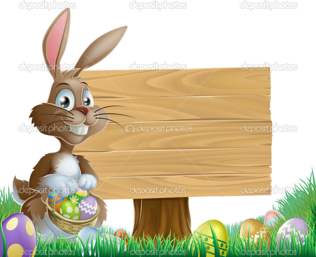 Easter background sign