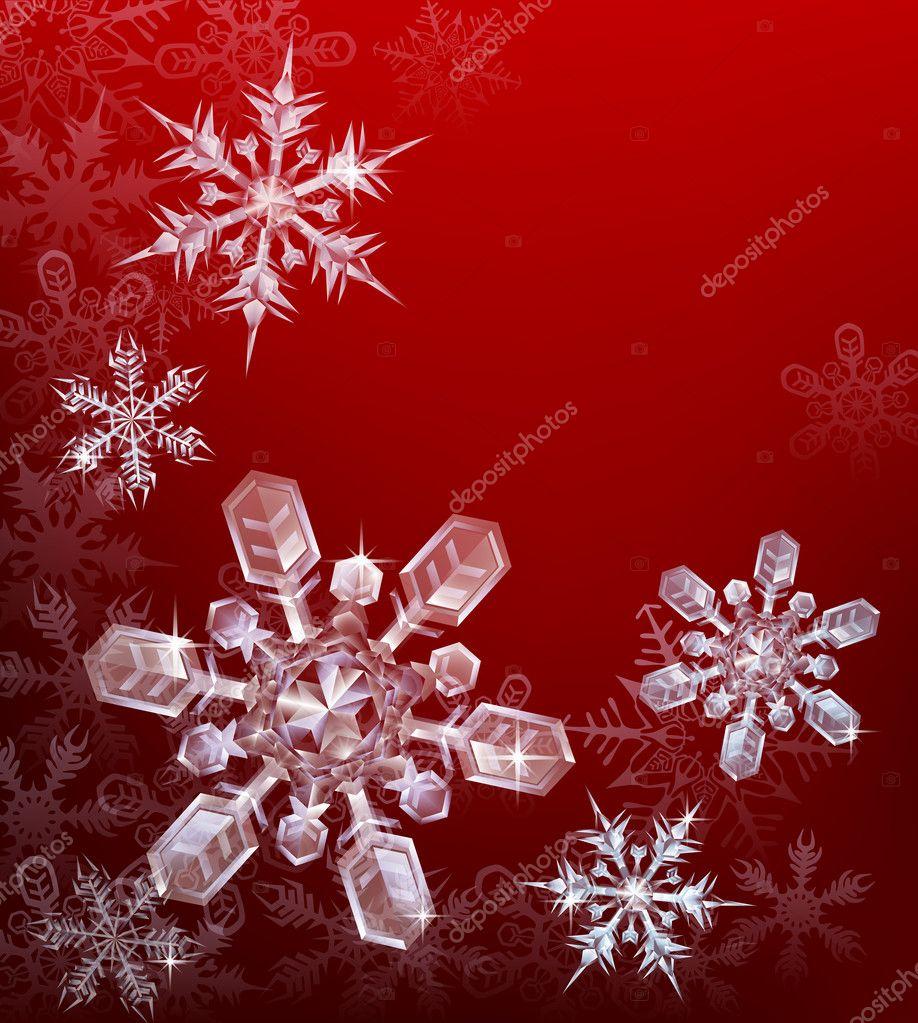 rot Weihnachten Schneeflocke Hintergrund — Stockvektor © Krisdog ...