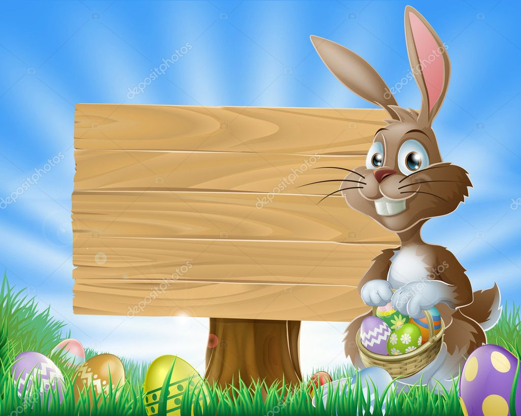 Easter bunny rabbit background