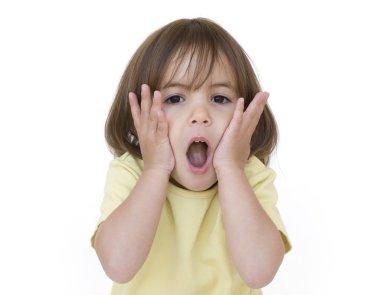 Little girl surprised