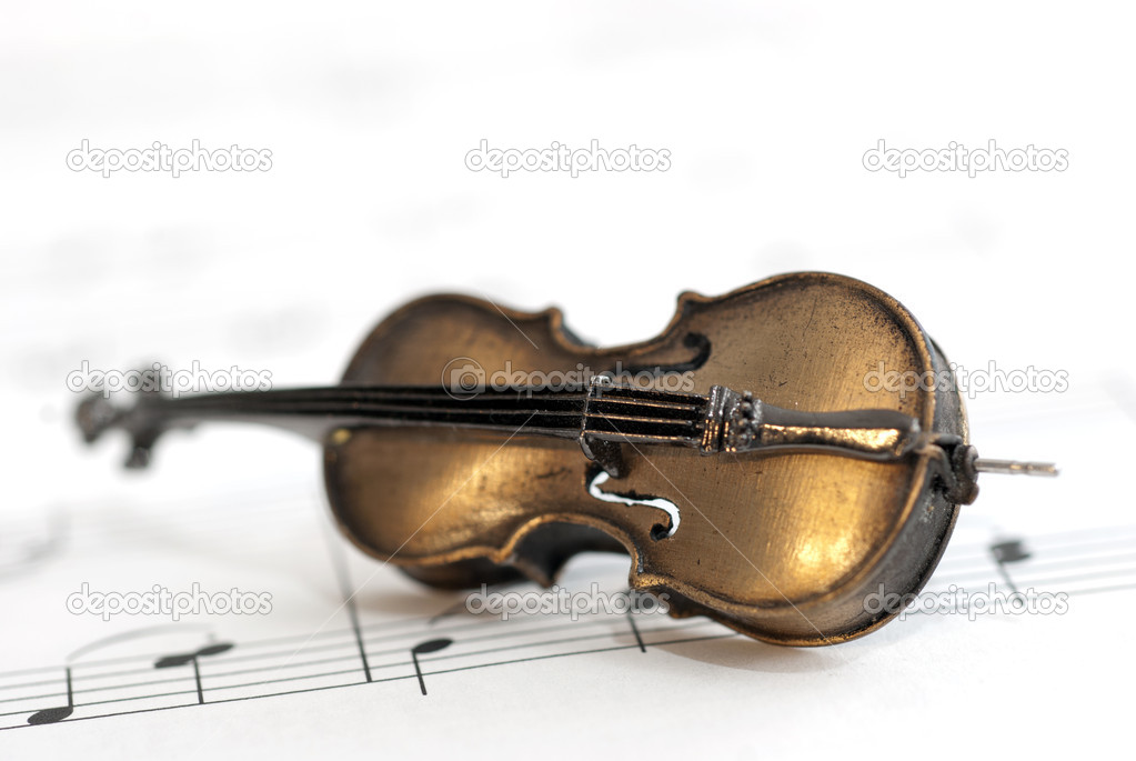 Small instrument and music notes