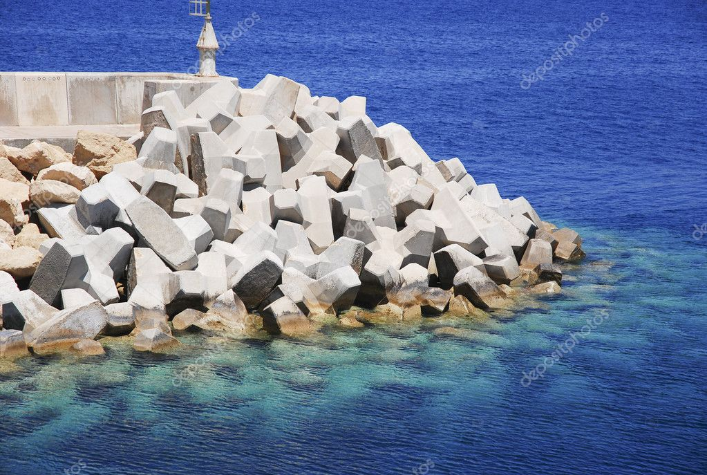 Bulwark To Protect The Harbour From Wave Strikes