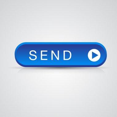 Blue send button, mail mesage