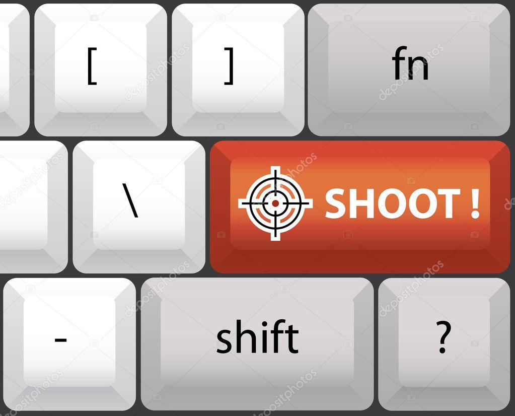 Shoot Symbol On Keyboard Stock Vector I3alda 8087501