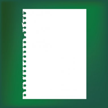 Close up of blank notepad paper - illustration stock vector