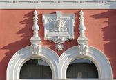 Windows zdobené historické budovy svitavy, Česká republika