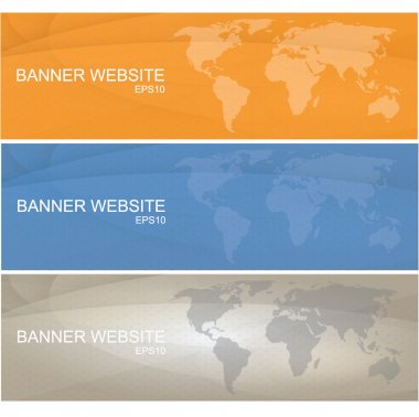 Modern colored banner with the theme of a world vector eps10