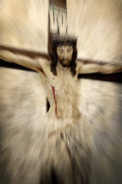 Crucified Jesus Christ - Easter abstraction