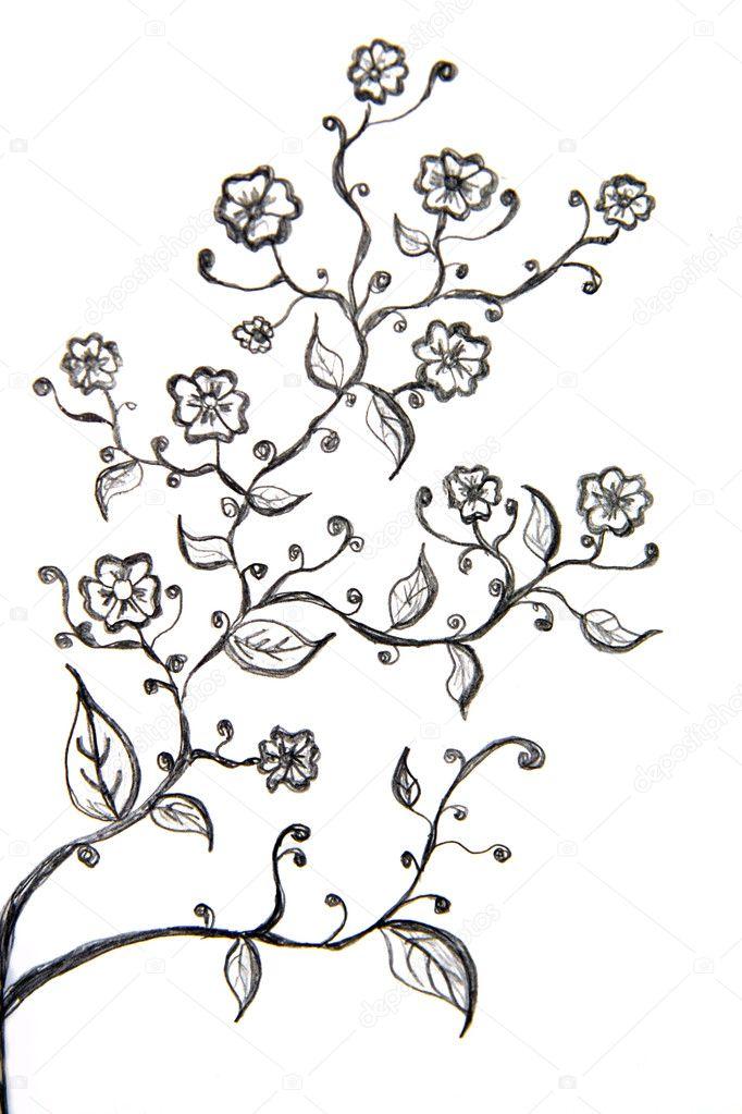 Blumen Zeichnen Stockfoto C Kritiya 10457199