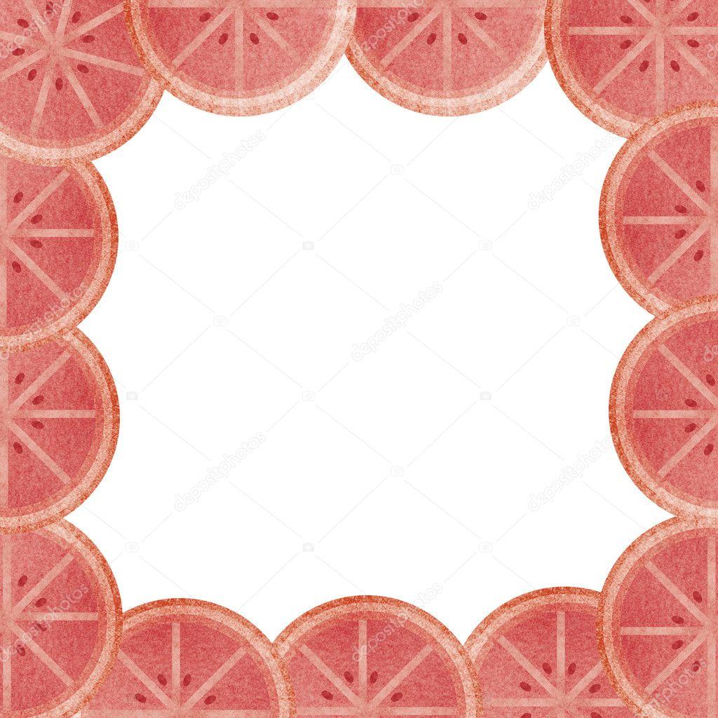 guarnición de sangre naranja al marco aislado — Foto de stock ...