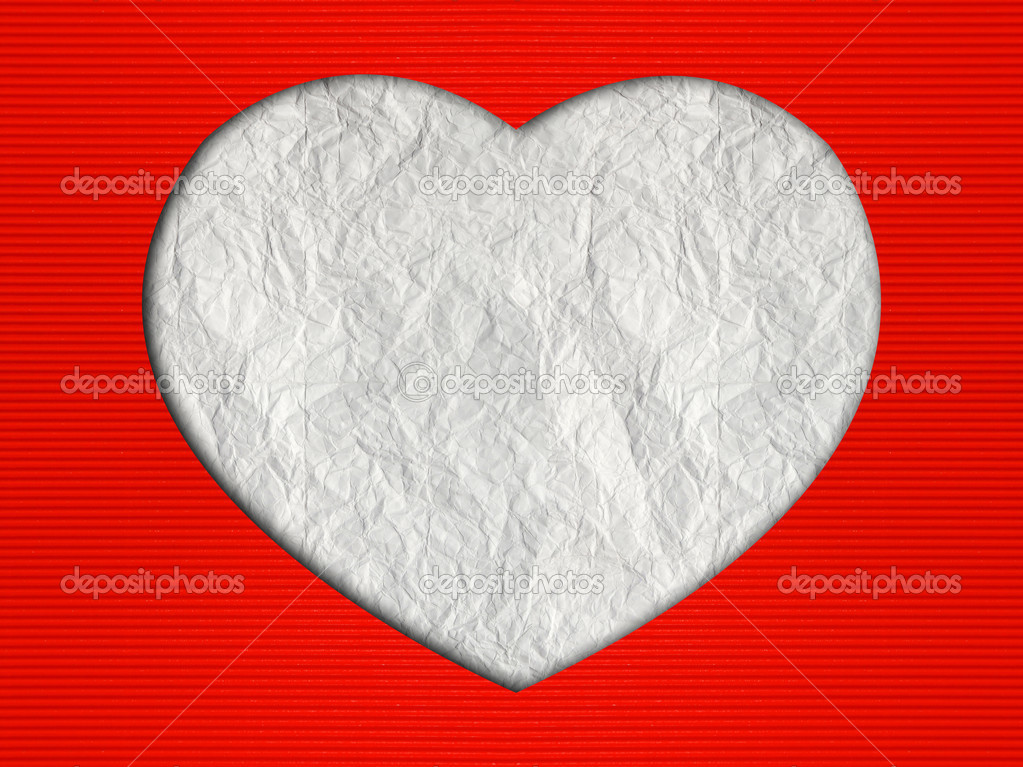 Valentines Day Hearts Background With Corrugated Paper Craft On