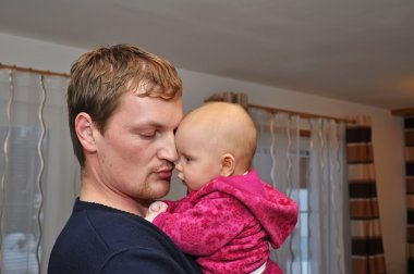 Portrait of a Father and Cute Baby