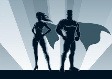 Superhero Couple