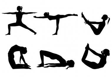 Yoga series silhouettes 3