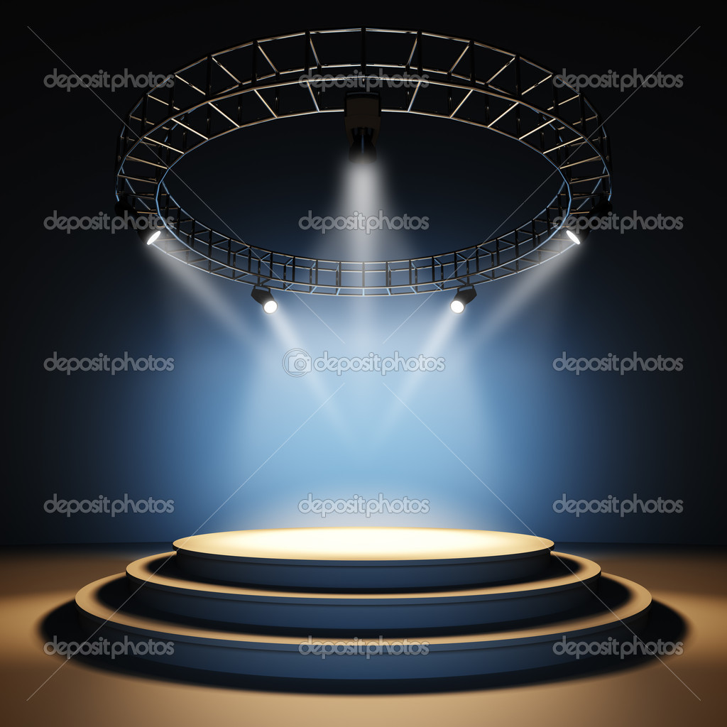 A 3d illustration of an empty stage. stock vector