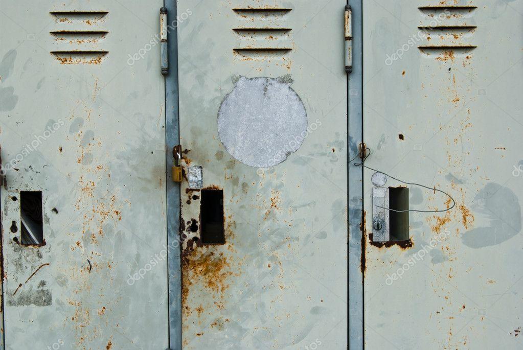 old metal lockers background u2014 stock photo - Metal Lockers