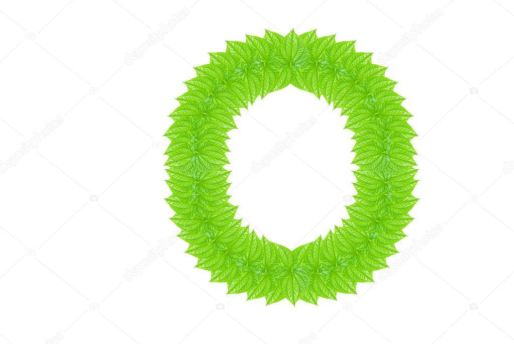 alfabeto inglés de verdes hojas — Foto de stock © sasilsolution #8198948