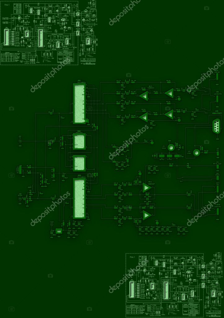 Blueprint circuit board — Stock Photo © richter1910 #9237233