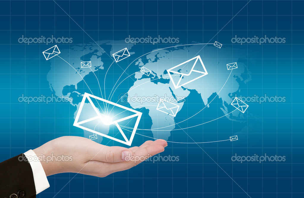 Hands with world mail delivery on world map background stock photo hands with world mail delivery on world map background stock photo gumiabroncs Gallery