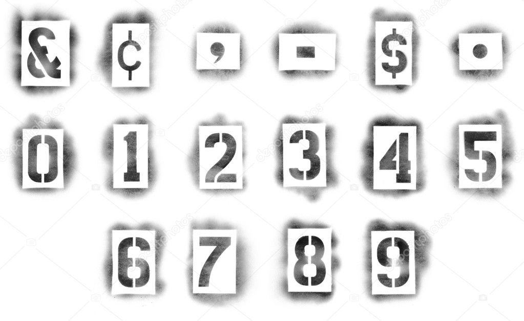 Stencils In Spray Paint Stock Photo C Ssilver 9453890